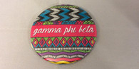 Gamma Phi Beta Sorority Tribal Print Button- Large