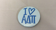 Alpha Delta Pi ADPI Sorority- I Heart Button-Small