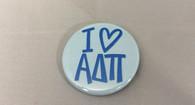 Alpha Delta Pi ADPI Sorority- I Heart Button-Small