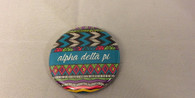 Alpha Delta Pi ADPI Sorority Tribal Print Button- Small