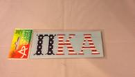 Pi Kappa Alpha PIKE Fraternity Car Letters- American Flag Pattern