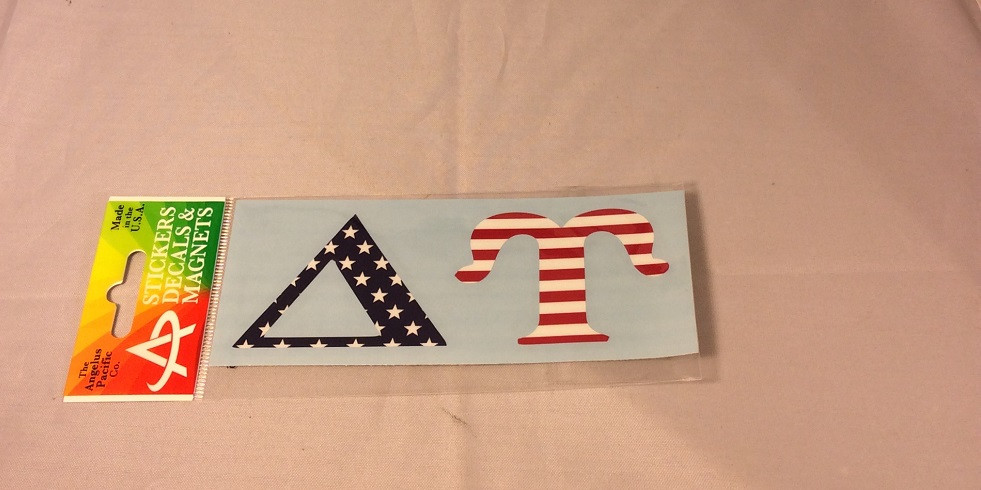 Delta upsilon fraternity car letters american flag for Delta upsilon letters