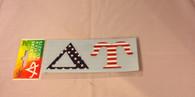 Delta Upsilon Fraternity Car Letters- American Flag Pattern