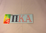 Pi Kappa Alpha PIKE Car Letters- American Flag Pattern