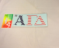 Alpha Gamma Delta Sorority USA Car Letters- American Flag Pattern