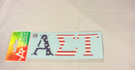 Alpha Sigma Tau Sorority USA Car Letters- American Flag Pattern