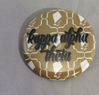 Kappa Alpha Theta Sorority Gold Symbol Button-Small