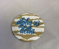 Alpha Xi Delta Sorority Gold Symbol Button-Large