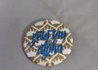 Zeta Tau Alpha Sorority Gold Symbol Button-Small