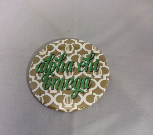 Alpha Chi Omega Sorority Gold Symbol Button-Large