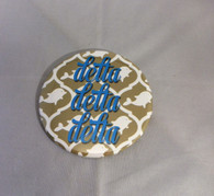 Delta Delta Delta Tri-Delta Sorority Gold Symbol Button-Large