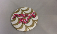 Gamma Phi Beta Sorority Gold Symbol Button-Large