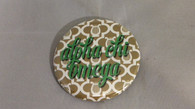 Alpha Chi Omega Sorority Gold Symbol Button-Small