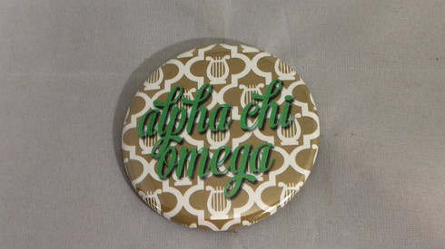 Alpha Chi Omega Sorority Gold Symbol Button-Small