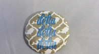 Delta Delta Delta Sorority Gold Symbol Button-Small