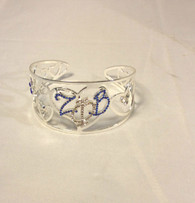 Zeta Phi Beta Sorority Heart Bangle Bracelet