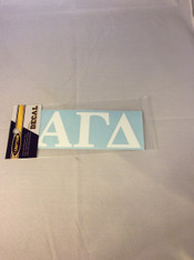 Alpha Gamma Delta Sorority White Car Letters