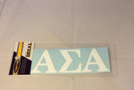 Alpha Sigma Alpha Sorority White Car Letters