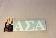 Alpha Sigma Alpha Sorority White Car Letters