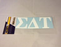 Sigma Delta Tau Sorority White Car Letters