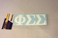 Phi Sigma Sigma Sorority White Car Letters