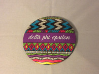 Delta Phi Epsilon Sorority Tribal Print Button- Large