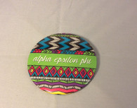 Alpha Epsilon Phi AEPHI Sorority Tribal Print Button- Large
