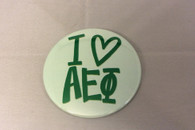 Alpha Epsilon Phi AEPHI Sorority- I Heart Button-Large