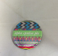 Alpha Epsilon Phi Sorority Tribal Print Button- Small