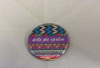 Delta Phi Epsilon Sorority Tribal Print Button- Small