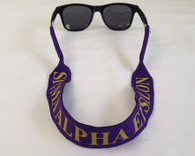 Sigma Alpha Epsilon SAE Fraternity Croakies/ Sunglass Holder