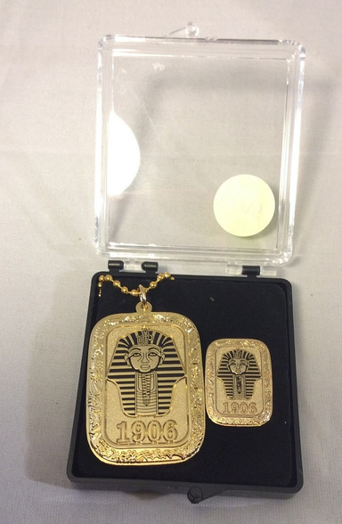 Alpha Phi Alpha Fraternity Dog Tag and Lapel Pin Set