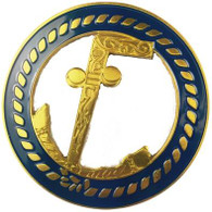 Mason Masonic Tubal Cane Cut Out Car Emblem