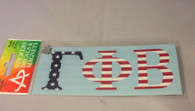 Gamma Phi Beta Sorority USA Car Letters- American Flag Pattern