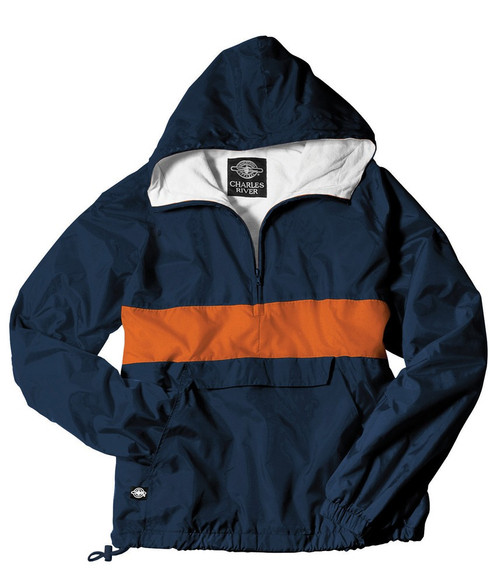 Charles River Sorority Anorak- Navy/Orange