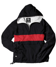 Charles River Sorority Anorak- Black/Red