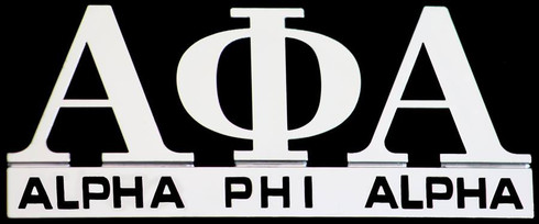 Alpha Phi Alpha Fraternity English Spelling Car Emblem