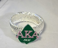 Alpha Kappa Alpha AKA Sorority Stretch Bracelet
