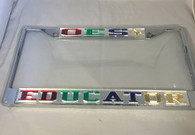 "Order of the Eastern Star OES ""Educator"" License Plate Frame"