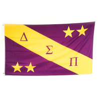 Delta Sigma Pi Fraternity Flag with Symbols