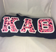 Kappa Alpha Theta Double Stitched Letter Navy Shirt