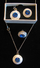 Zeta Phi Beta Sorority Necklace and Lapel Pin Set