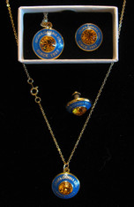 Sigma Gamma Rho Sorority Necklace and Lapel Pin Set
