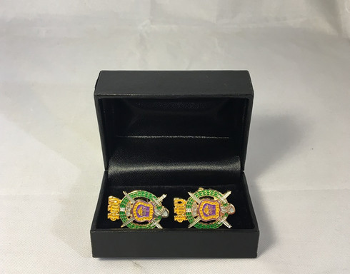 Omega Psi Phi Fraternity Crest Cuff Links