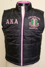 Alpha Kappa Alpha AKA Sorority Vest- Black