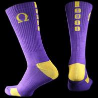 Omega Psi Phi Fraternity Dry Fit Crew Socks