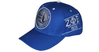 Zeta Phi Beta Sorority Crest with Founding Year Hat- Blue