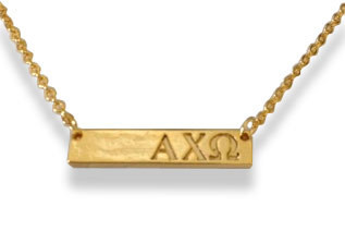 Alpha Chi Omega Sorority Bar Necklace