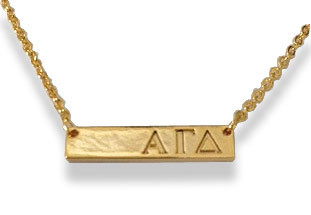 Alpha Gamma Delta Sorority Bar Necklace