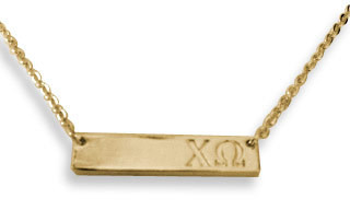 Chi Omega Sorority Bar Necklace